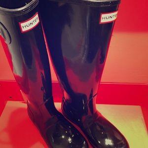 Hunter Boots Tall Gloss Black